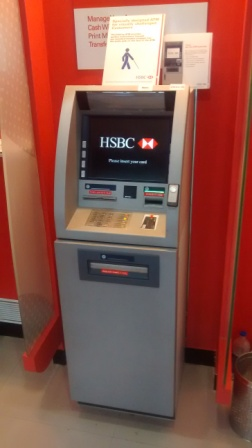 H S B C Talking ATM site
