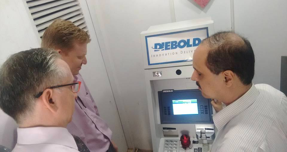 Mr. James Thurston, Vice President for Global Strategy and Development from G3ICT having a look at Talking ATM
