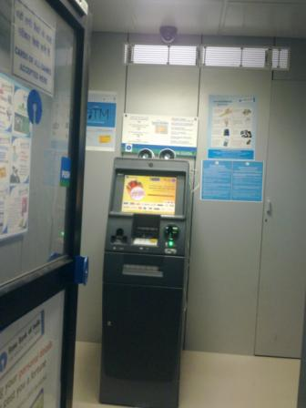 State bank of India's Talking ATM site at J N U campus, New Delhi